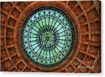 Grand Rotunda Pennsylvanian Pittsburgh Canvas Print by Amy Cicconi