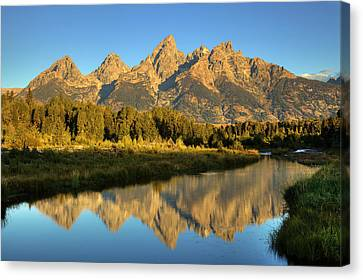 Canvas Print featuring the photograph Grand Teton by Alan Vance Ley