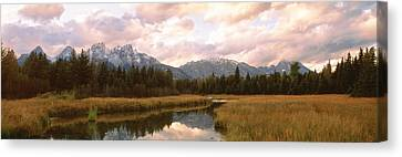 Grand Teton National Park Wy Usa Canvas Print by Panoramic Images