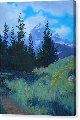 Grand Tetons Canvas Print by Susan Woodward