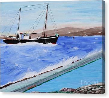 Grandpa's Boat Canvas Print by Bill Hubbard