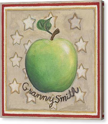 Fruit Canvas Print - Granny Smith Apple Two by Linda Mears