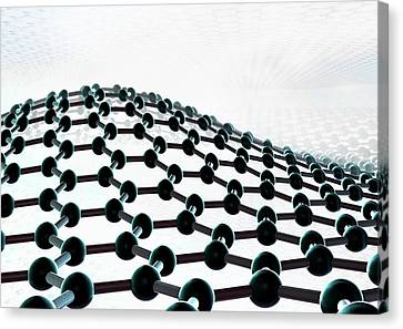 2d Canvas Print - Graphene by Animate4.com/science Photo Libary