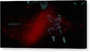 Canvas Print featuring the mixed media Gravity by Brian Reaves