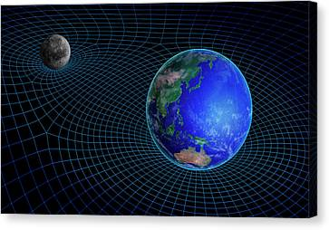 Grid Canvas Print - Gravity In Outer Space by Andrzej Wojcicki