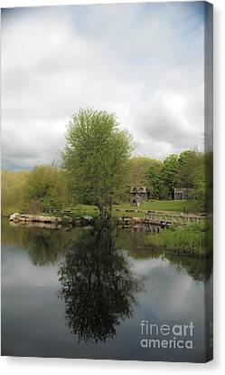Grays Mill Pond Canvas Print by Angela DeFrias