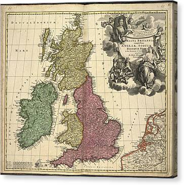 Baptising Canvas Print - Great Britain And Ireland by British Library