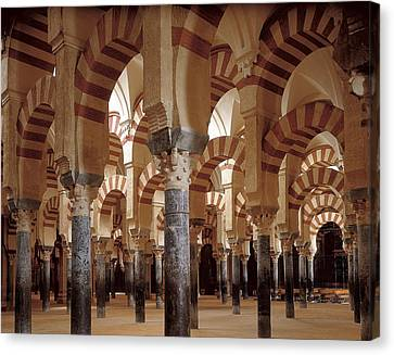 Great Mosque Of Cordoba. 8th-9th C Canvas Print by Everett