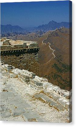 Canvas Print featuring the photograph Great Wall Of China by Henry Kowalski