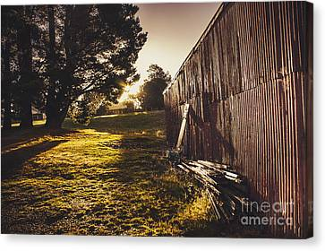 Green Farm Paddock Landscape. Outback Australia Canvas Print by Jorgo Photography - Wall Art Gallery