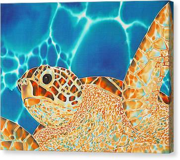 Sea Turtle Canvas Print - Green Sea Turtle by Daniel Jean-Baptiste