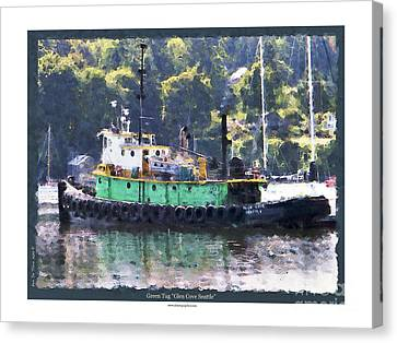 Canvas Print featuring the photograph Green Tug by Kenneth De Tore