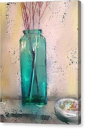 Green Vase Canvas Print by Russell Pierce