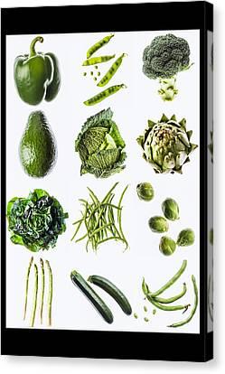 Green Vegetables Canvas Print