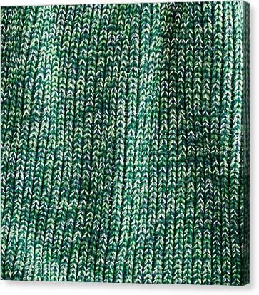 Green Wool Canvas Print by Tom Gowanlock