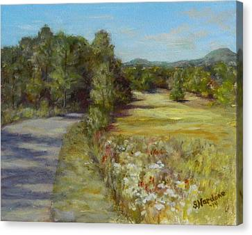Canvas Print featuring the painting Greenville Road by Sandra Nardone