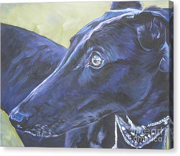 Rescued Greyhound Canvas Print - Greyhound by Lee Ann Shepard