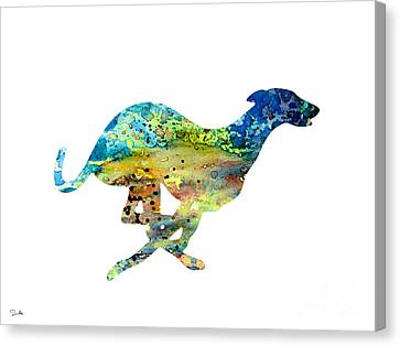 Greyhound  Canvas Print by Watercolor Girl