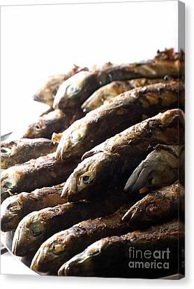 Restauraunt Canvas Print - Grilled Fish by Sinisa Botas