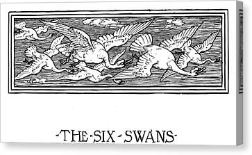 Grimm The Six Swans Canvas Print by Granger