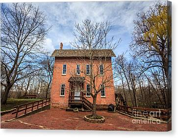 Grist Mill In Deep River County Park Canvas Print