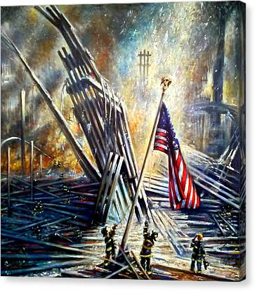 Ground Zero 911  Canvas Print