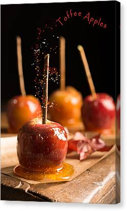 Spin Canvas Print - Group Of Toffee Apples by Amanda Elwell
