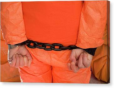 Guantanamo Protest Canvas Print