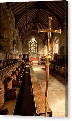 Guisborough, England  Interior Of Chapel Canvas Print by John Short