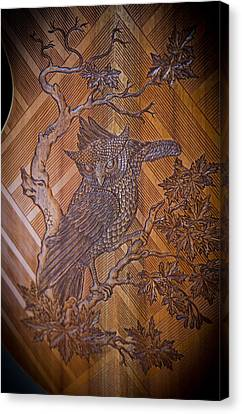 Canvas Print featuring the photograph Guitar Carving - Bali by Matthew Onheiber