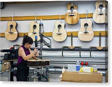 Artisan Canvas Print - Guitar Factory by Jim West