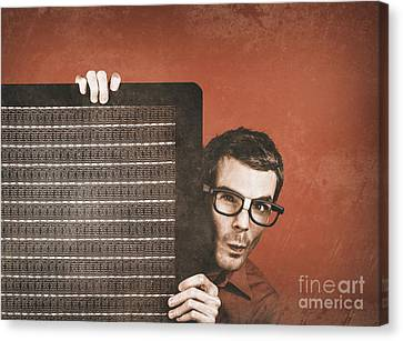 Guitarist Man Performing Stage Sound Check Canvas Print by Jorgo Photography - Wall Art Gallery