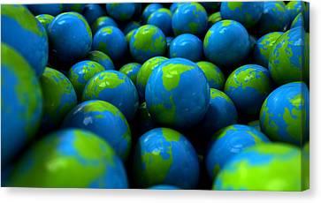 Gum Ball Earth Globes Canvas Print by Allan Swart