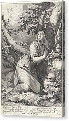 H Penitent Mary Magdalene Canvas Print by Willem Isaacsz. Van Swanenburg And Cornelis Gijsbertsz. Plemp And Jacques Razet