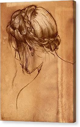 Hair Study Canvas Print