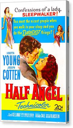 Half Angel, Joseph Cotten, Loretta Canvas Print by Everett