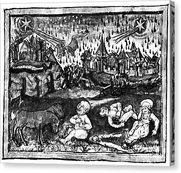 Halleys Comet, 1456 Canvas Print by Science Source