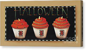 Halloween Cupcakes Canvas Print by Catherine Holman