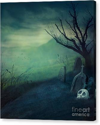 Halloween Graveyard Canvas Print