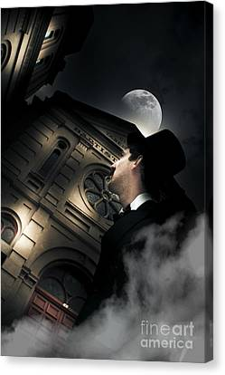 Halloween Scene Canvas Print