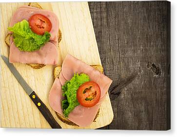 Ham Sandwiches Canvas Print