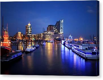 Hamburg Skyline Canvas Print by Marc Huebner