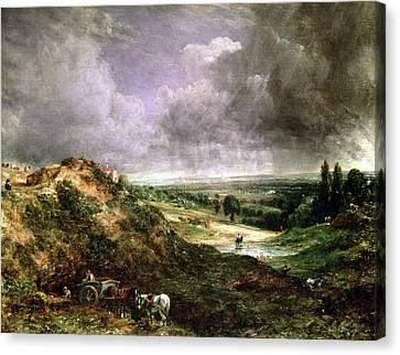 Cart Horse Canvas Print - Hampstead Heath by John Constable