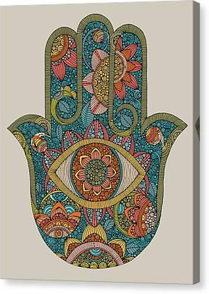 Contemporary Canvas Print - Hamsa by Valentina