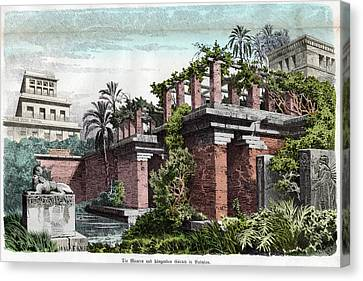 Hanging Gardens Of Babylon Canvas Print by Cci Archives