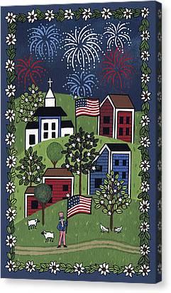 Happy 4th Of July Canvas Print by Medana Gabbard
