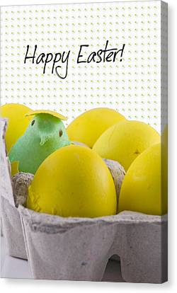Happy Easter Canvas Print by Juli Scalzi