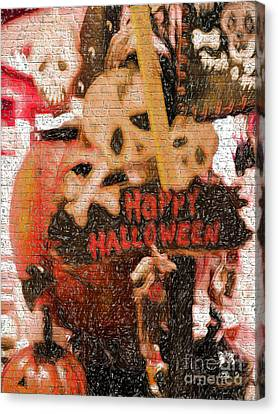 Happy Halloween Canvas Print by Gillian Singleton