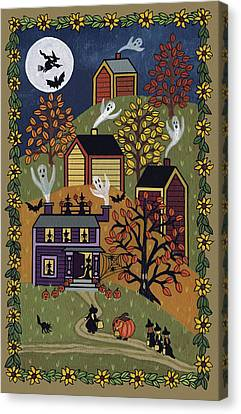 Happy Halloween Canvas Print by Medana Gabbard