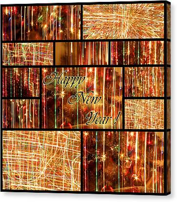 Happy New Year Collage  Canvas Print by Julia Fine Art And Photography